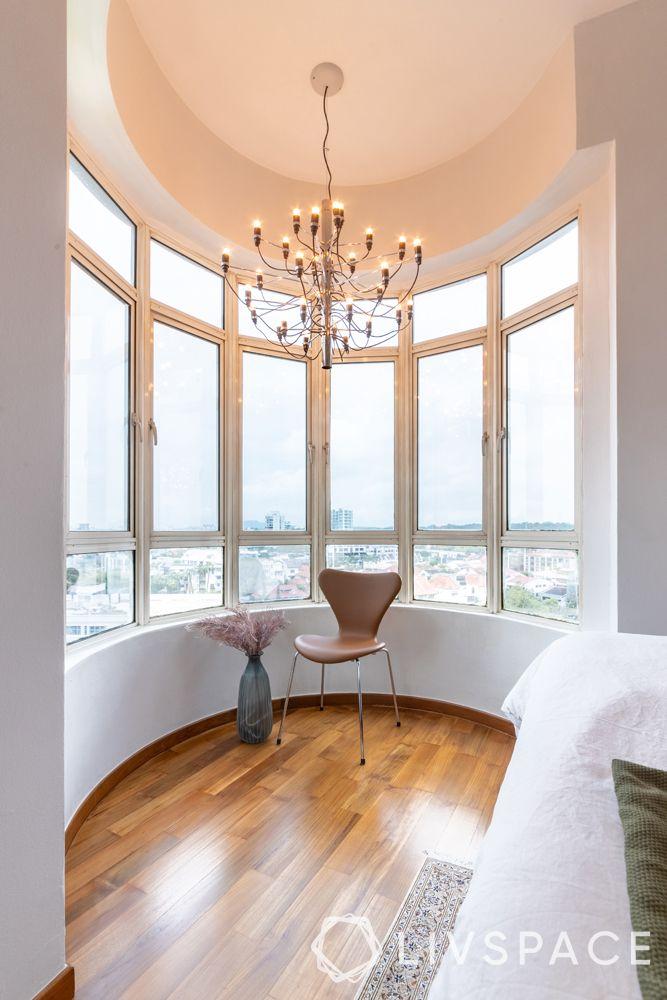 2-bedroom-condo-reading-corner-chandelier